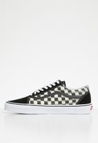 Vans - Old Skool - blur check black & classic white