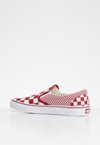 Vans - Classic slip-on - mix checker chili pepper & true white