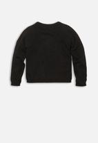 MINOTI - Lurex basic cardigan - black