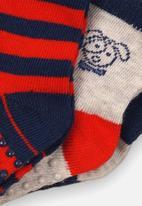 MINOTI - 3 Pack character & stripe ankle socks - multi