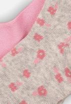 MINOTI - 2 pack bamboo tights - pink & grey