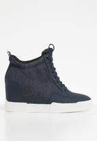 G-Star RAW - Rackam wedge sneaker - dk saru blue