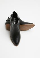 Jada - Western buckle ankle boot - black