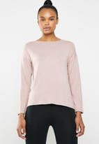 Superbalist - Drop shoulder long sleeve top - dusty pink