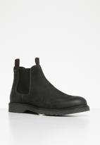 Jack & Jones - Leyton leather boot - black