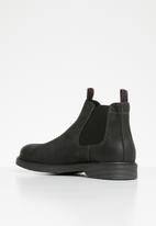 Jack & Jones - Leyton leather boot - black