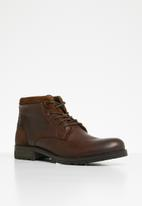 Jack & Jones - Harry mixed leather boot - brown