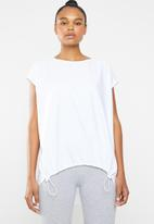 Superbalist - Combo fabric tee - white