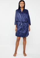 edit - Vintage kimono gown - navy