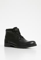 Jack & Jones - Harry mixed leather boot - black