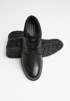 Jack & Jones - Harry mixed leather boot - black