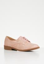 Butterfly Feet - Adalynn brogue - pink / rose gold glitter
