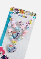 Character Fashion - My Little Pony beaded necklace, bracelet & ring set - multi