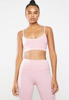 South Beach  - Strappy seamless bralette - pink