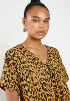 Superbalist - Tie front blouse - yellow & black