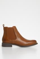 Vero Moda - Sally leather boot - tan