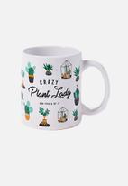 Typo - Anytime mug crazy plant lady - white