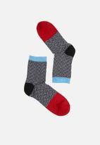 Hysteria - Jill ankle socks - grey