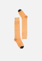 Hysteria - Madda knee high socks - peach & navy