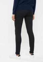 G-Star RAW - 3301 deconst low skinny jean - black