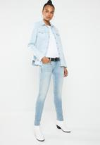 G-Star RAW - 3301 deconstructed low skinny jean - blue