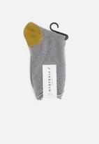 Hysteria - Emma ankle socks - grey