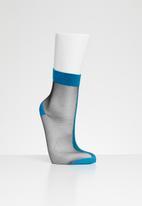 Hysteria - Flippa ankle socks - blue & black
