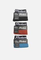 Frankees - Plain 3 pack trunk set - multi