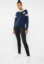 G-Star RAW - Sport knit long sleeve top - blue & white