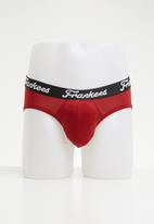 Frankees - 2 pack midway brief - white & red