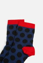 Hysteria - Viktoria ankle sock - navy