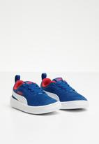 PUMA - Courtflex Mesh - s.blue-white-r.red