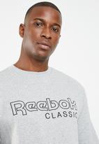 Reebok Classic - Classic fleece crew - grey