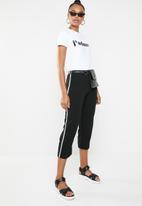 STYLE REPUBLIC - Cropped jogger - black & white