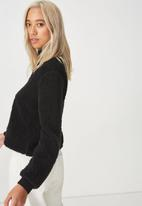Cotton On - Crop pullover - black
