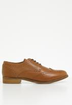 ALDO - Olaowia leather studded lace-up oxford shoe - brown