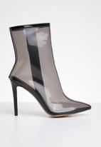 Public Desire - Sheer stiletto boot - black