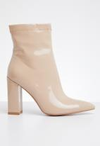 Public Desire - Rejoice block heel boot - neutral