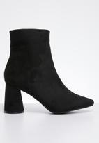 Public Desire - Bronte round block heel ankle boot - black