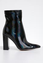 Public Desire - Faux leather ankle boot - black