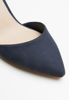 ALDO - Nubuck ankle strap block heel - navy