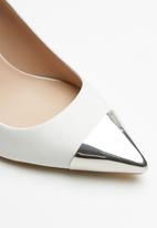 ALDO - Leather metal tip stiletto heel - white