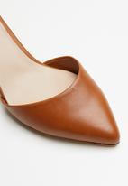 ALDO - Keclya leather heel - tan
