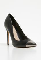 ALDO - Edania leather metal tip pointed stiletto heel - black