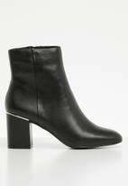 ALDO - Seiria leather ankle boot - black