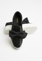 ALDO - Mccoulskey front bow slip-on platform espadrille - black