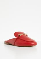 91c0ca8ad41 Dabrylla faux leather metal front flat mule - red ALDO Pumps   Flats ...