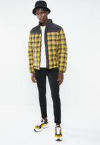 New Look - Check puffer jacket - black & yellow