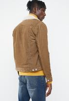 New Look - Corduroy borg jacket - tan