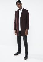 New Look - Smart overcoat - dark burgundy